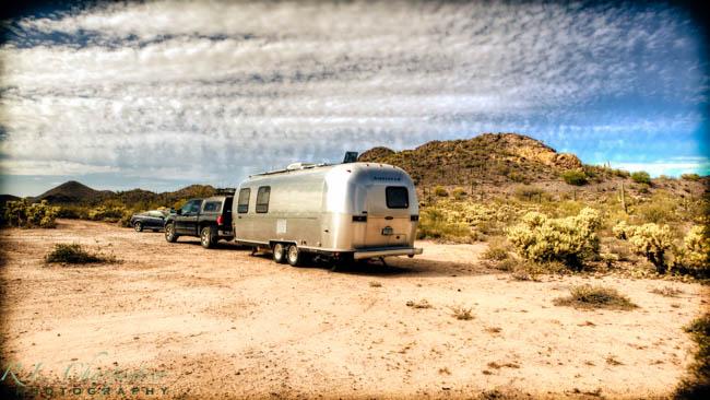 Airstream power in the desert