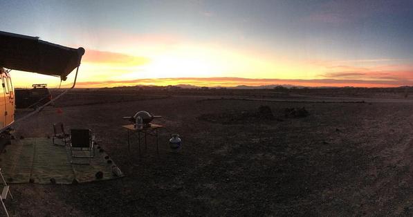 Sunrise at Imperial Dam LTVA